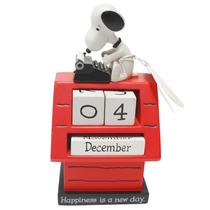 Figura De Resina Snoopy Calendario