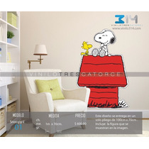 Vinil Decorativo Snoopy, Calcomanía De Pared, Rotulo Sticker