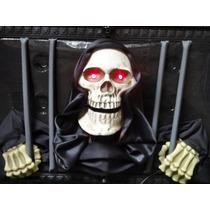 Cuadro Calavera Luz Led Sonido Halloween Adorno Envío Gratis