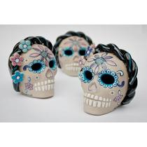 Calavera De Ceramica Frida Kahlo