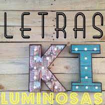 Letras Luminosas Led De Baterías Retro Vintage