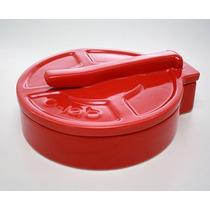Tortillero De Ceramica Rojo Diseño Prensa Tortilla O-lab