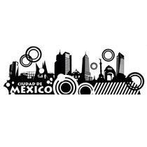 Vinilo Decorativo La Ciudad De Mexico.. Original Y Unico