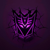 Lampara Para Pared Decepticons 3d Transformers Hasbro