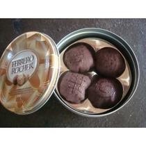 Caja Redonda De Chocolates De Fieltro