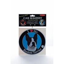 Iman Para Refrigerador Circular O Huellitas Boston Terrier