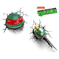 Rafael Raphael 2 Lamparas 3d Tortugas Ninja Tmnt Turtles