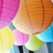 10 Lamparas Chinas Decoración (9 Colores Disponibles)