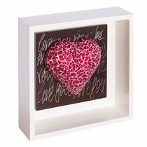 Cuadro Tridimensional Decorativo Corazon Rosa Para Pared