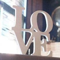 Letras De Madera Love Paquete De 4 Letras Por $430