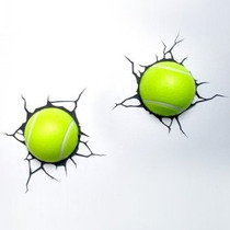 Lamparas Para Pared 3d Pelotas De Tenis Led Relieve Nuevas