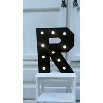 Letras Con Luz Led Color Negro Pizzaron