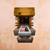 Vinil Decorativo Minecraft 3d, Para Habitacion De Niños