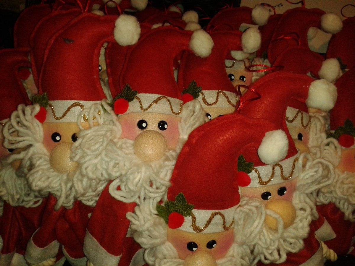 adornos navide os 2 santas claus para puertas o guias