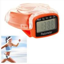 Podómetro Digital, Contador De Pasos (naranja)