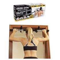 Iron Gym Barra Gimnasio Puerta Musculos + Abrazaderas Straps