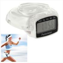 Podómetro Digital, Contador De Pasos (blanco)