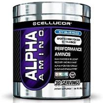 Cellucor Alfa Amino Suplemento Azul Helado Razz 30 Contador