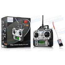 Radio Control Flysky 6 Canales Fs-t6 Modo 2 Con Receptor