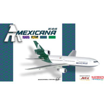 Avión Dc-10 Mexicana De Aviación Gemini Jets Aeroméxico Eex