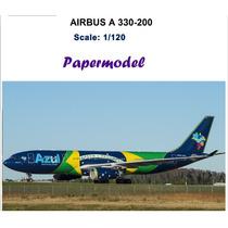 Avion Azul Airlines Airbus A330-200 Para Armar En Papel