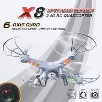 Drone X8 Càmara Hd Video/foto Gratis Microsd/4 Aspas Repues