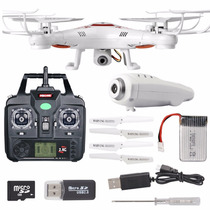 Drone Syma X5c-1 Recargable Camara Video Hd 4 Helices Extra