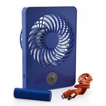 Mini Ventilador Aire Abanico Personal Portátil Usb Azul