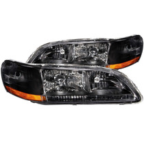 Honda Accord 98-02 Crystal H.l Black Amber