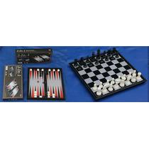 Ajedrez+ Juego De Ajedrez, Damas Y Backgammon 3 En 1