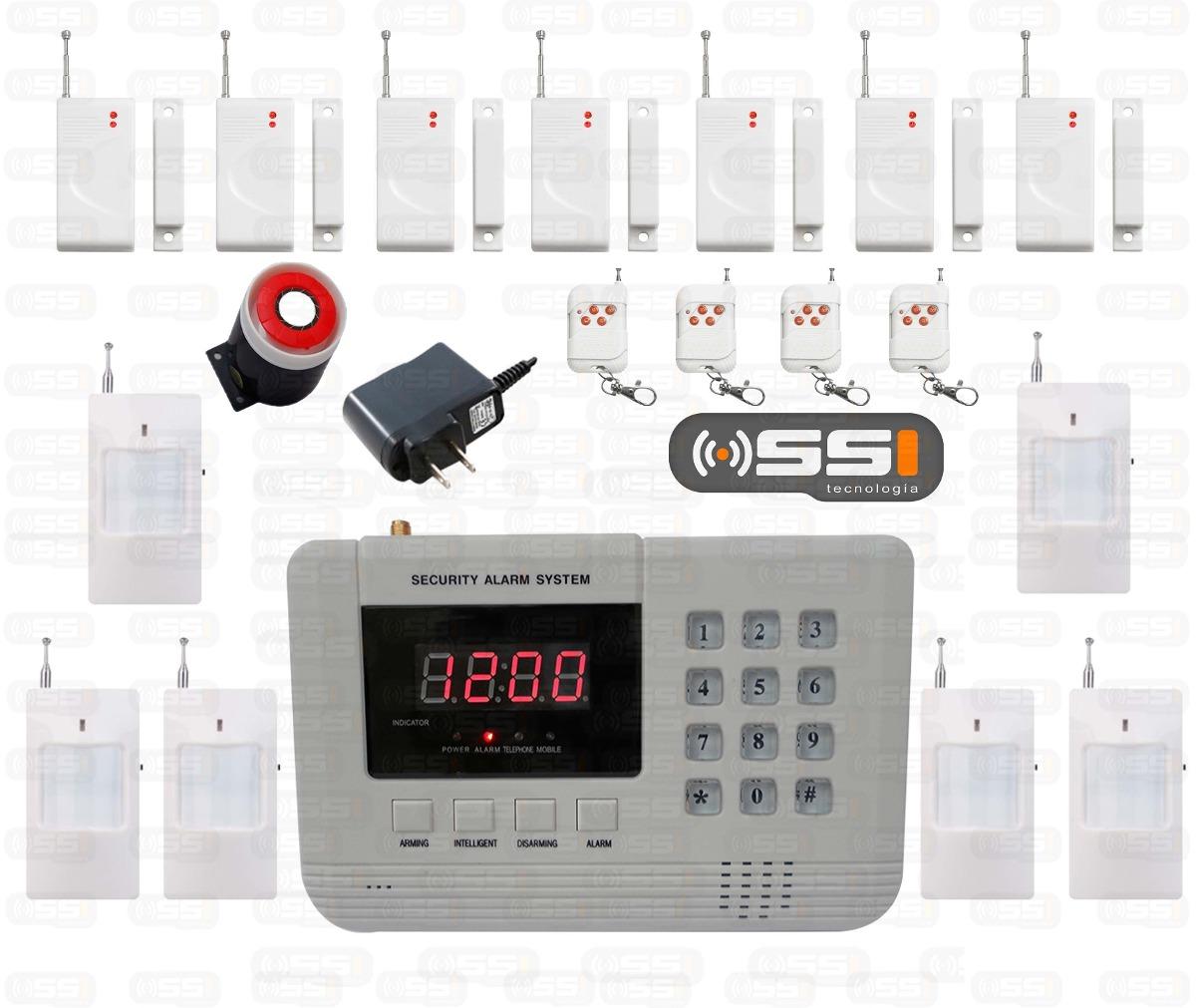 Alarma gsm hibrida inalambrica intelig para casa negocio - Alarmas para casa precios ...