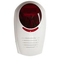 Sirena Inalambrica Para Exterior Con Estrobo Color Rojo Hm4
