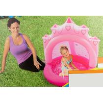 Alberca Inflable Para Bebe Con Cubierta Superior Rosa J5004