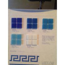 Azulejo Veneciano Azul 2x2 Para Alberca Baños Etc.