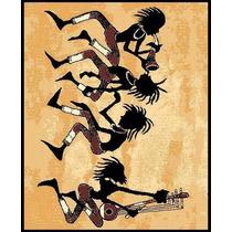 Tapete Minimalista African Adventure Tribal Dance