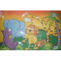 Tapete Infantil, Diseño Divertido De Jungla, Animales!!!