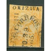 Sc 23 Año 1865 Aguila Iv Periodo 2 Reales Dist 114 Orizava