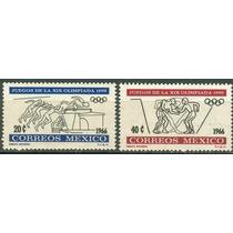 Sc 974-975 Año 1966 Juegos De La Xix Olimpiada