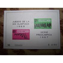 Mexico Scott # C329a Hojita Souvenir Olimpiada Mexico 68