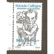México 1984 Romulo Gallegos Artista Dibujo A Lápiz