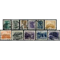 0956 Austria Castillos Serie Corta 11 S Usados N H 1929-34
