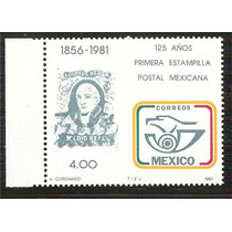 1981 Aniv Primera Estampilla Postal Mexicana Marca De Agua