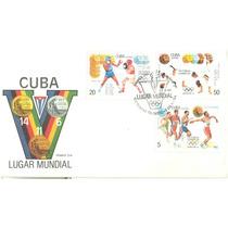 Sc7-cuba 3 Fdc Deportes Victorias Olímpicas Barcelona 92-