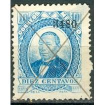 Sc 126 Juarez 10 Cent Papel Grueso Año 1880 Dist 34 Parral