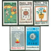 Sc 1178-1180, C606-c607 Año 1979 Mexico Sede Universiada 79