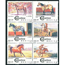 Mexico 1994 Caballos Mexicanos Set 6 Timbres Nuevos Mp Msi