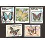 Estampillas De Mariposas El Salvador Usadas