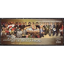 2011 75 Aniversario De La Ley De Justicia Fiscal Sello Mnh