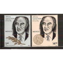 1982 Alfonso Garcìa Robles Premio Nobel 2 Sellos Nuevos