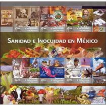2011 Sanidad E Inocuidad En México Hoja Souvenir C/6 Sellos